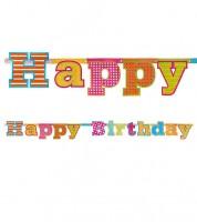 "Schriftzug-Girlande ""Happy Birthday"" - bunt - 1,66 m"