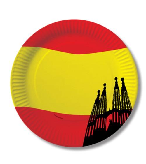 "Pappteller ""Spanien"" - 10 Stück"