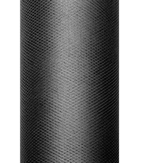 Tischläufer aus Tüll - schwarz - 30 cm x 9 m