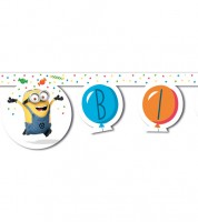 "Happy Birthday-Girlande ""Minions Balloons Party"" - 2 m"