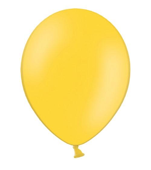 Standard-Luftballons - honiggelb - 10 Stück