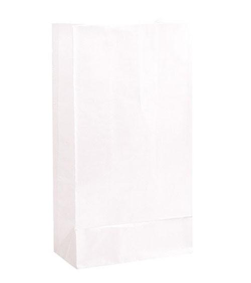 12 Papiertüten - weiß