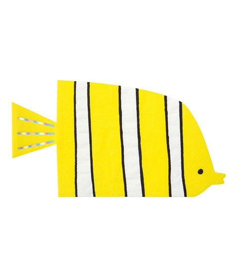 """Fisch-Servietten """"Under the Sea"""" - 16 Stück"""