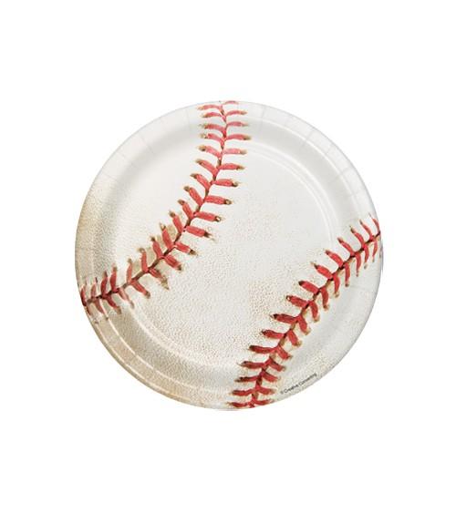 "Kleine Pappteller ""Baseball"" - 8 Stück"
