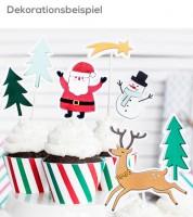 """Tortenstecker aus Papier """"Weihnachten"""" - 7-teilig"""