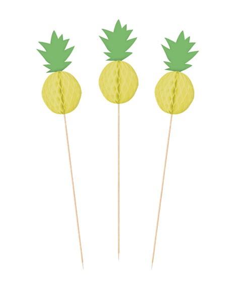 """Deko-Picks """"Ananas"""" - 10 Stück"""