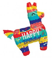 "SuperShape-Folienballon ""Lama Pinata - Happy Birthday"" - 73 x 83 cm"