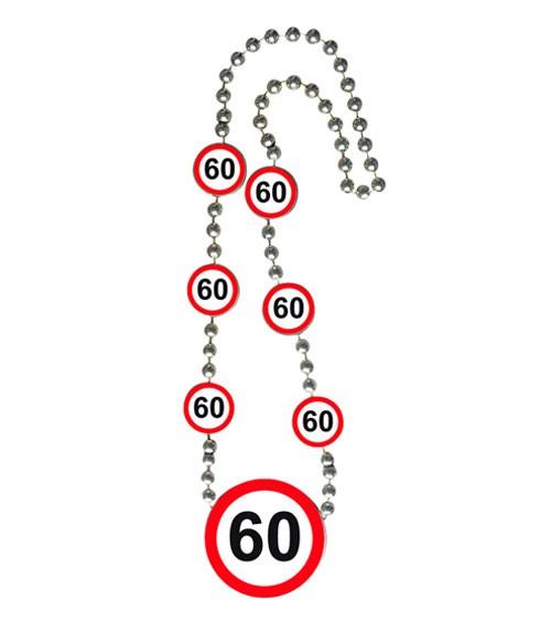 """Halskette """"Verkehrsschild"""" - 60. Geburtstag"""