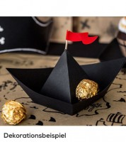 "DIY-Papierdekoration ""Piratenschiff"" - 6 Stück"
