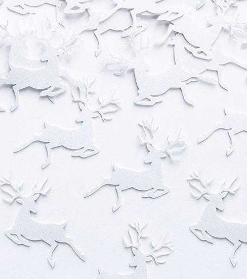 """Weihnachts-Streudeko """"Hirsch"""" - perlweiß - 20 Stück"""
