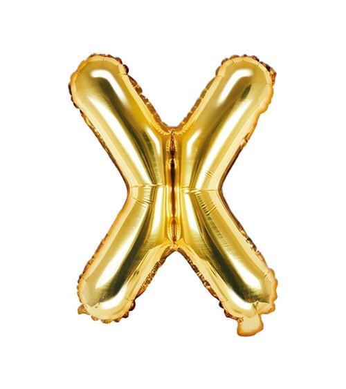 "Folienballon Buchstabe ""X"" - gold - 35 cm"