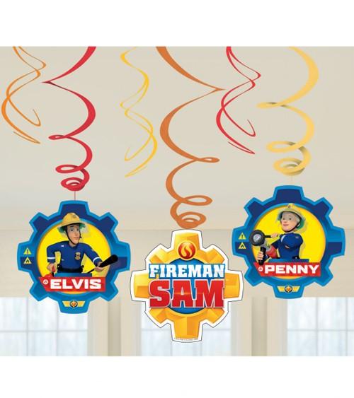 """Spiralgirlanden """"Feuerwehrmann Sam Einsatz"""" - 6 Stück"""