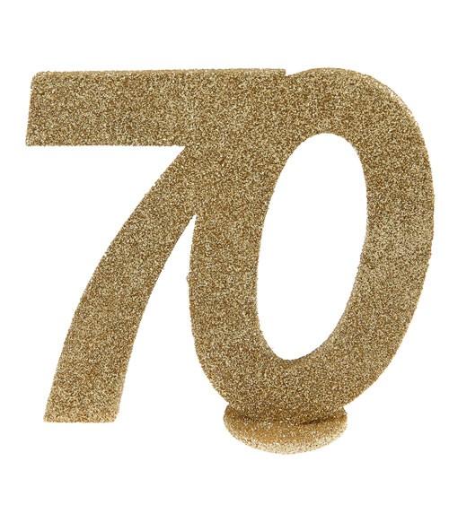 """Tischaufsteller """"70"""" - gold - 10 x 10 cm"""