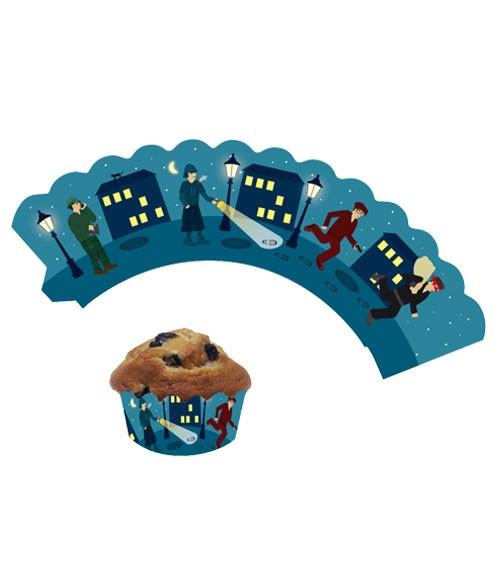 """Cupcake-Wrapper """"Detektive"""" - 12 Stück"""