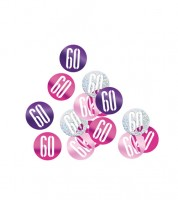"Streukonfetti ""60"" - pink - 14 g"