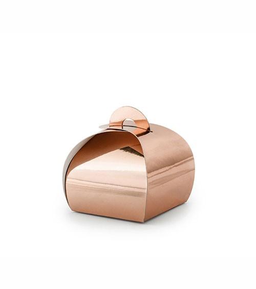Rosegoldene Geschenkboxen - 6 x 6 cm - 10 Stück