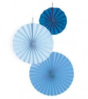 "Papierfächer-Set ""Farbmix Blau"" - 3-teilig"