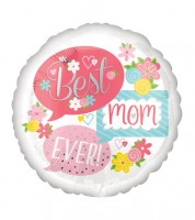 "Runder Folienballon ""Best Mom Ever"" - 43 cm"