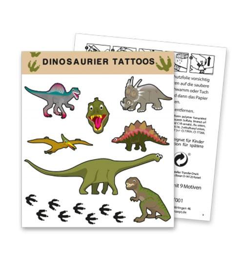 """Tattoos """"Dinosaurier"""" - 1 Bogen"""