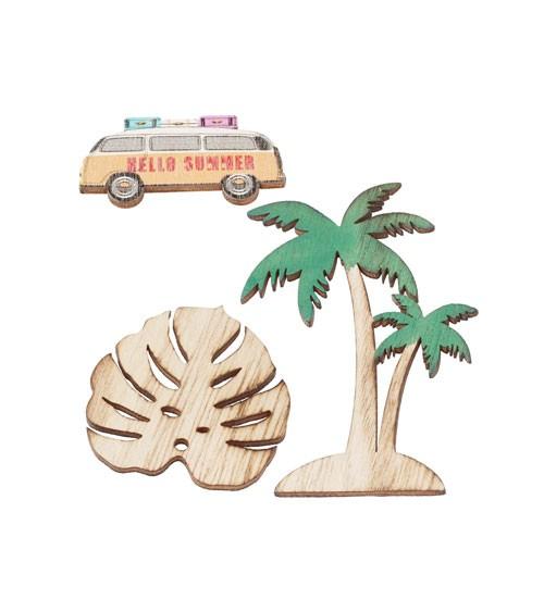 """Holz-Streuteile """"Beach"""" - 3-teilig"""