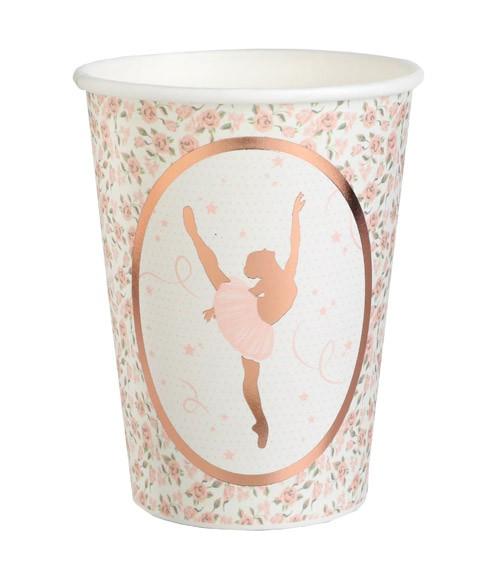 """Pappbecher """"Ballerina"""" - 10 Stück"""