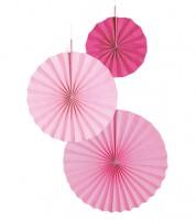 """Papierfächer-Set """"Farbmix Pink"""" - 3-teilig"""