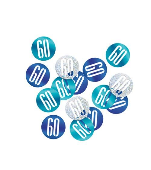 """Streukonfetti """"60"""" - blau - 14 g"""