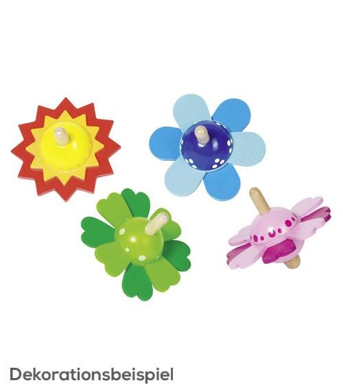 "Kreisel aus Holz ""Blütenzauber"" - sortiert - 7 cm"