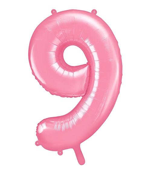 "Supershape-Folienballon ""9"" - rosa - 86 cm"