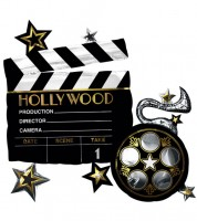 "Supershape-Folienballon ""Hollywood"" - Filmklappe - 76 x 73 cm"