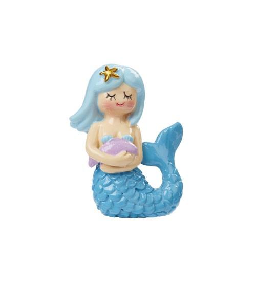 Deko-Meerjungfrau aus Polyresin - blau - 5,5 cm