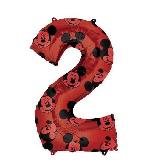 "SuperShape-Folienballon ""2"" - Mickey Mouse - 66 cm"