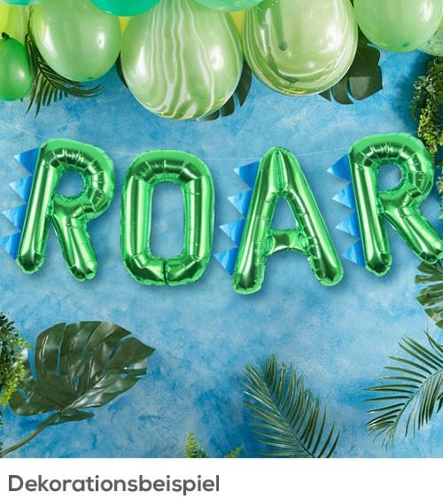 """Folienballon-Girlande """"Roar"""" - metallic grün"""