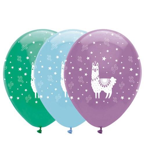 """Luftballon-Set """"Lama"""" - 6 Stück"""