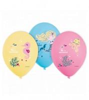 "Luftballon-Set ""Blonde Meerjungfrau"" - 6 Stück"