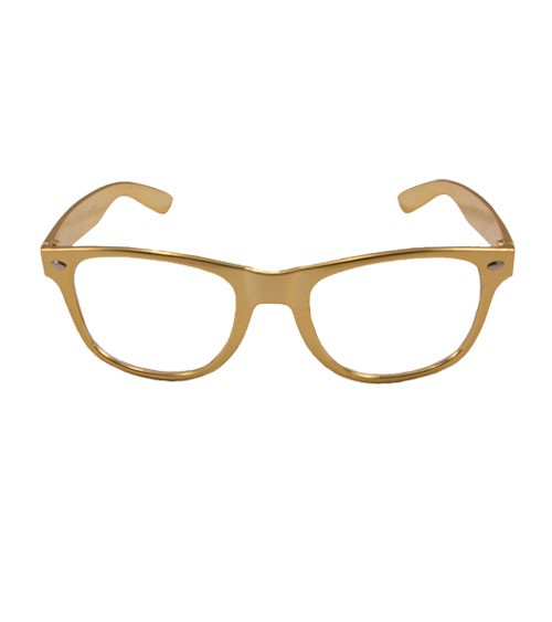 Party-Brille - metallic gold