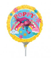 "Runder Mini-Folienballon ""Trolls"" - Poppy"