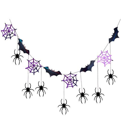 """DIY-Motivgirlande """"Halloween"""" - schwarz/lila"""