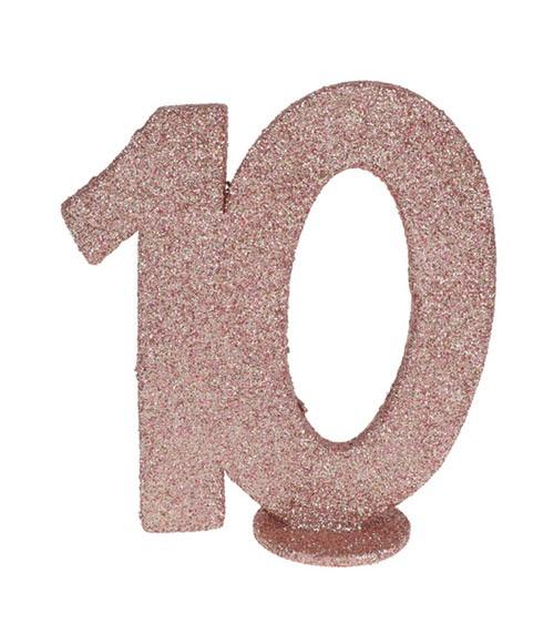 """Tischaufsteller """"10"""" - rosegold - 11 x 10 cm"""