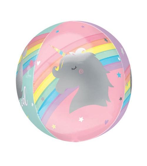 """Orbz-Folienballon """"Magical Rainbow"""" - 38 x 40 cm"""