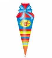 """Supershape-Folienballon """"Einschulung"""" - Bunte Schultüte"""