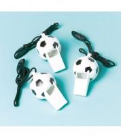 """Trillerpfeifen """"Fußball"""" - 12 Stück"""