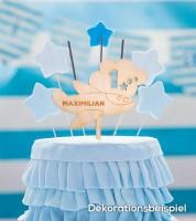 """Dein Cake-Topper """"Flugzeug"""" aus Holz - Wunschtext"""