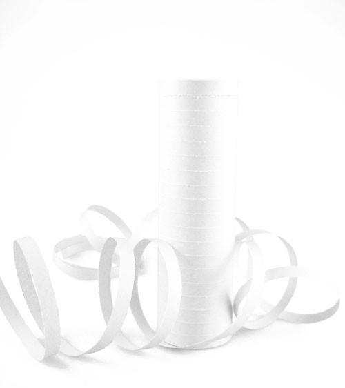 Papierluftschlange - weiß
