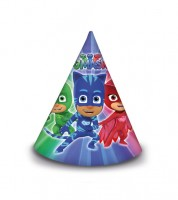 "Partyhüte ""PJ Masks - Pyjamahelden"" - 6 Stück"