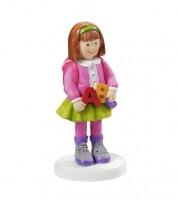 """Deko-Figur """"Mädchen mit Buchstaben"""" - 4,5 x 8,5 cm"""