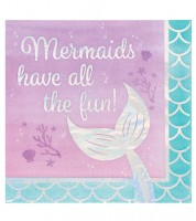 "Servietten ""Mermaid Shine"" - All the Fun - 16 Stück"