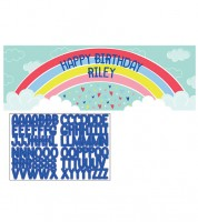 "Partybanner mit Sticker ""Over the Rainbow"" - 152 x 51 cm"