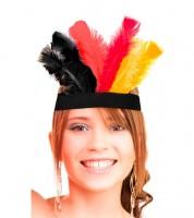 """Kopfband mit Federn """"Deutschland"""" - schwarz/rot/gold"""