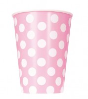 "Pappbecher ""Big Dots"" - Lovely Pink - 6 Stück"
